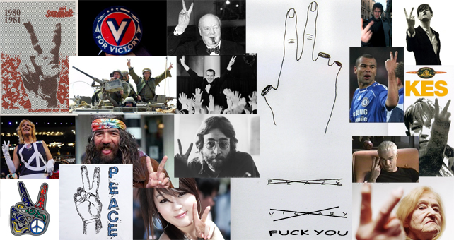 The V-sign: Peace/Victory/FuckYou