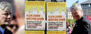 May Day: Lars Ohly and Left Party Posters