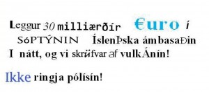 Icelandic-ish ransom note