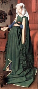 Mrs Arnolfini from The Arnolfini Marriage in National Gallery