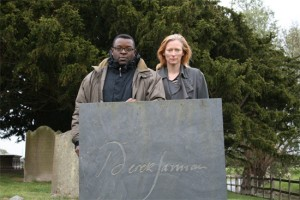 Tilda Swinton, Isaac Julien and Derek Jarman's tombstone
