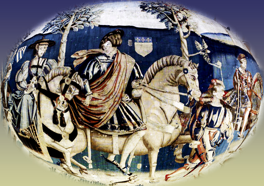 Child this day: Out riding 15th century tapestry