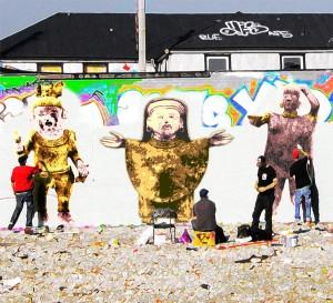 Graffiti artists + mezzo-American figures