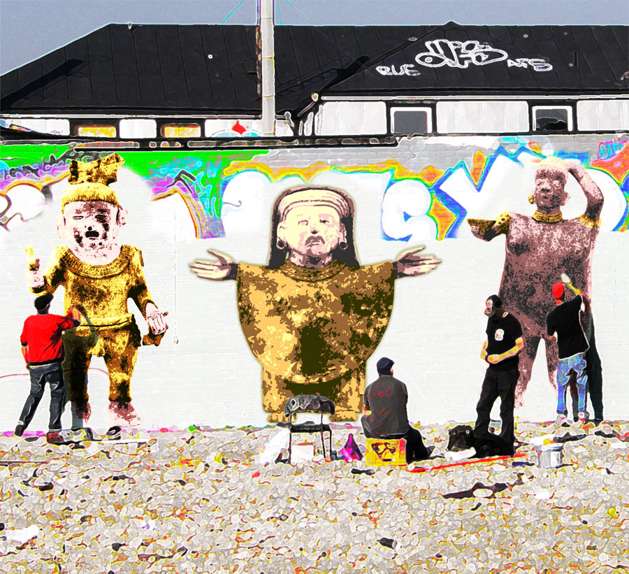 Graffiti artists + mezzo-American figures