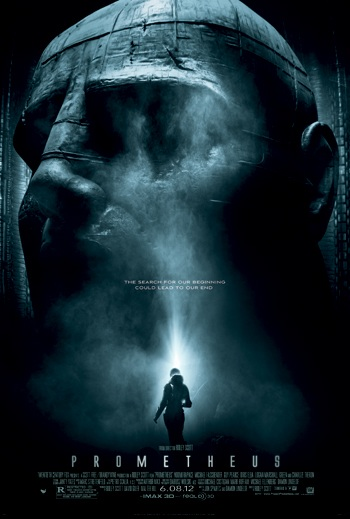 Official poster for Prometheus - from Wikipedia