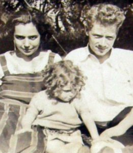 Charlie and Debbie with baby Elsa 1925
