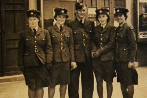 Mother's memories: Mum, furthest left, in her WAAF uniform 1941