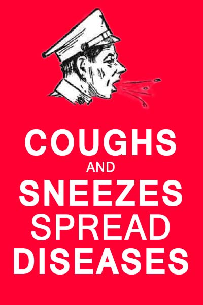 Head cold: Coughs and sneezes spread diseases