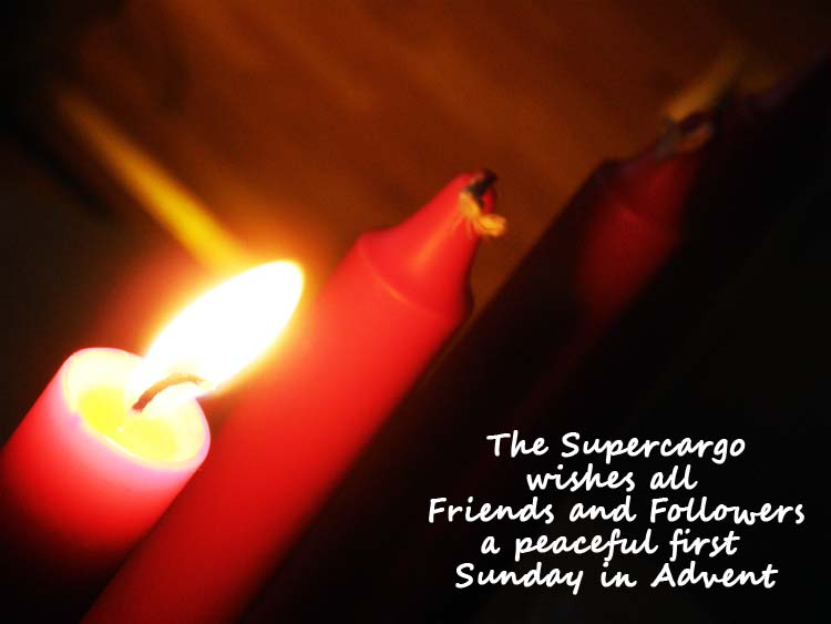 Advent candles: First Sunday in Advent