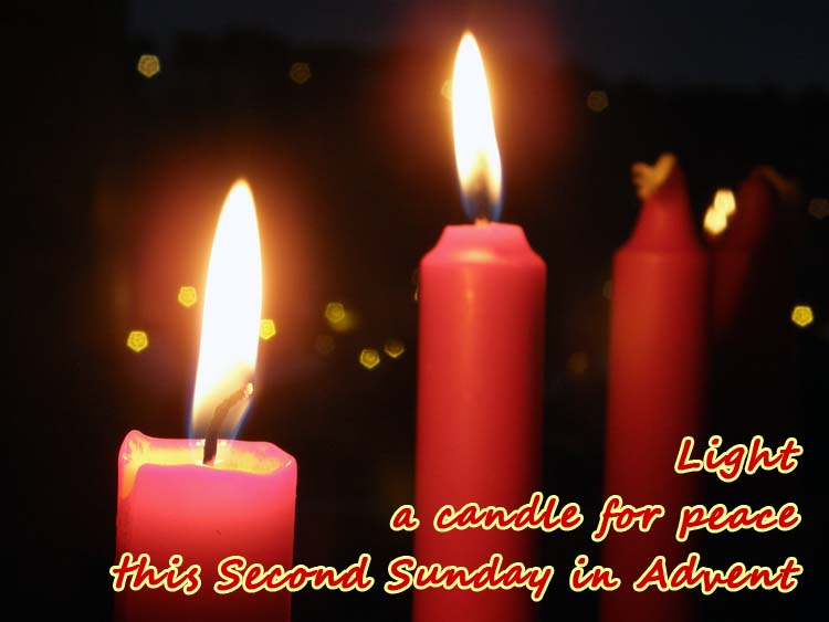 Advent candles Light a candle for peace: the second Sunday