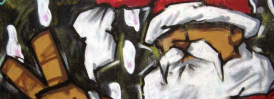 Taking stock 2015 - featured image - graffiti santa