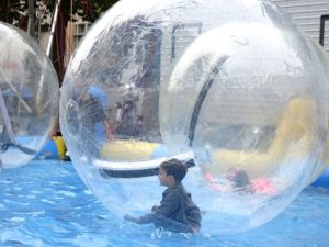 Saint Job Fair: Boy in a bubble