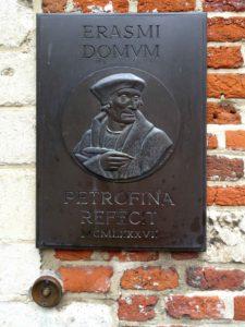 Erasmus House: Erasmi Domum plaque