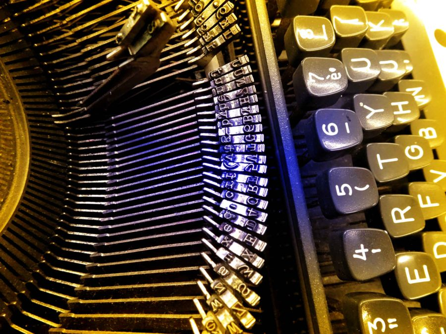 Margaret Atwood: Old typewriter close-up