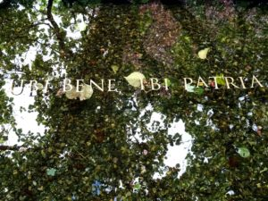 Erasmus House: In the garden - Ubi bene ibi patria