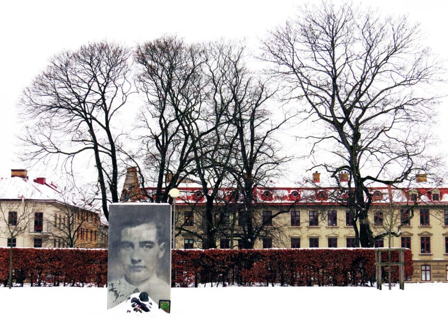 Under a blanket of snow: Wallenberg memorial