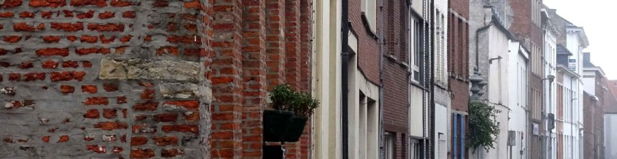 Beguine: A curve of facades in Mechelen's Greater Beguinage