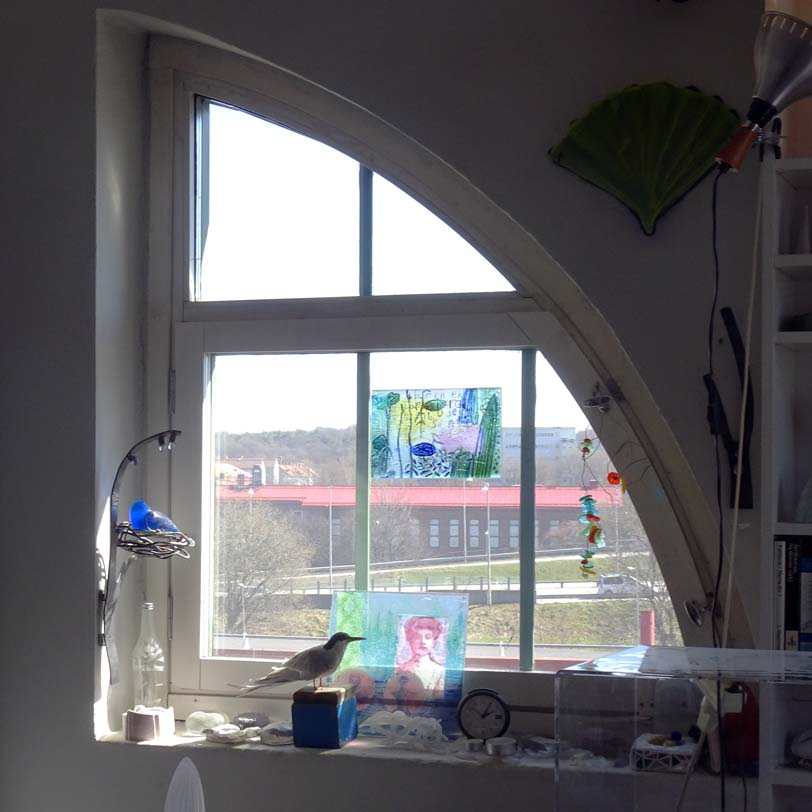 Anna Egger's studio curved window