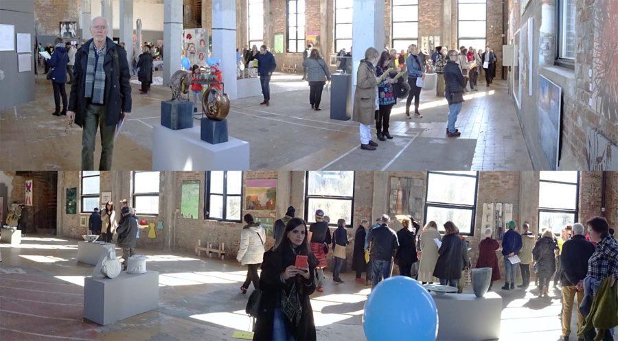 Konstrundan i Majorna exhibition panoramas in Röda Sten 2017