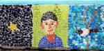 Mosaic portrait Kungstorget