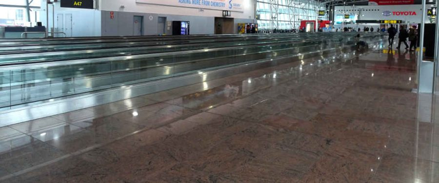 Brussels airport moving walkways