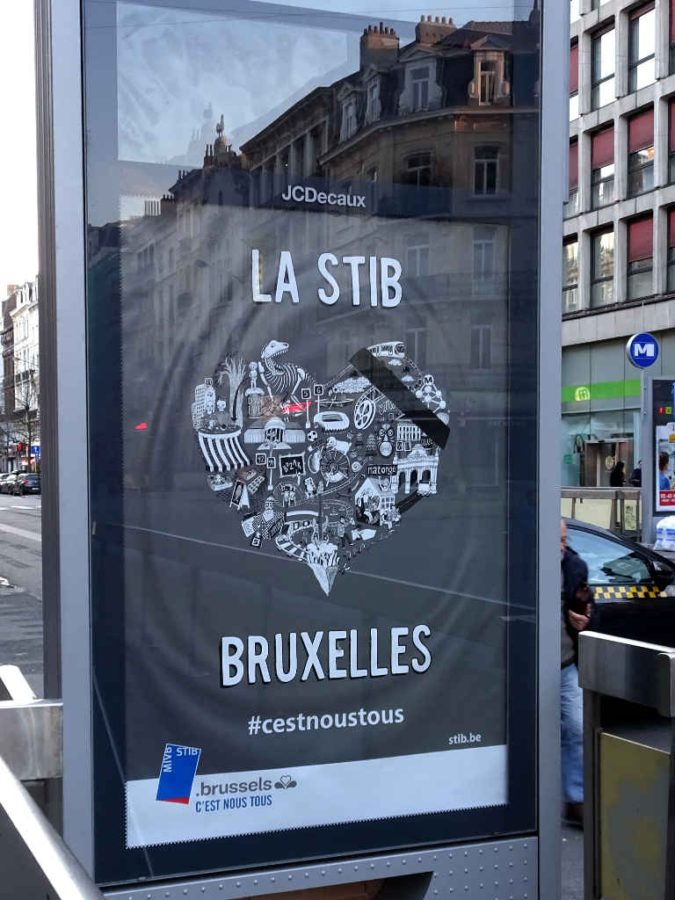 Brussels public transport (STIB) in mourning