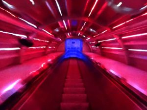 Time travel: Atomium interior 7 escalators