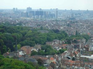 Central Brussels from Atomium