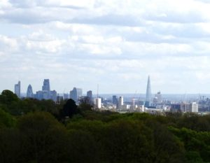 London green: London skyline from Hamstead Heath (City)