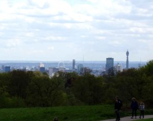 London green: London skyline from Hamstead Heath (Westminster)