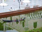Sinking gondola in Venice