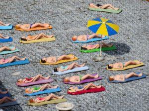 Sunbathing in Budapest