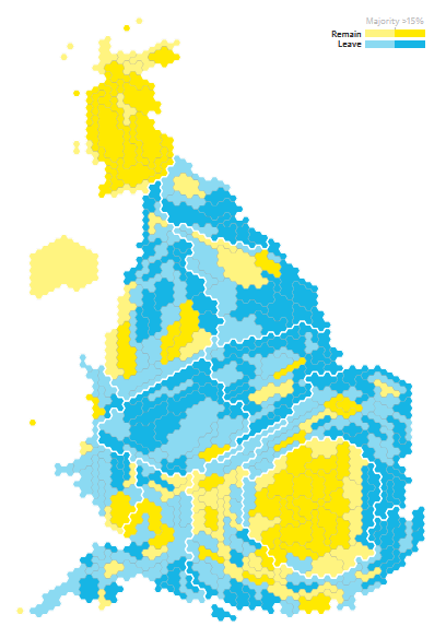 Referendum maps: 2016 EU Referendum - Guardian distorted Britain