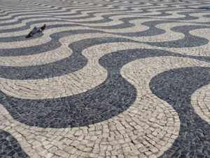 Monday - optical waves in Rossio tiled square