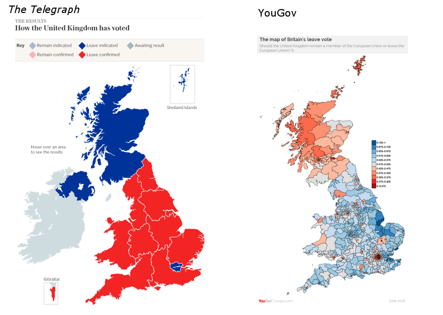Referendum maps: Telegraph-Yougov