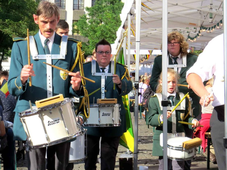 National holiday - Drummers on parade