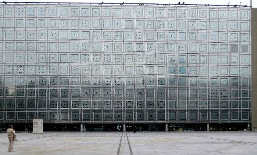 Paris: Facade of the Arabic World Institute/Institut du Monde Arabe