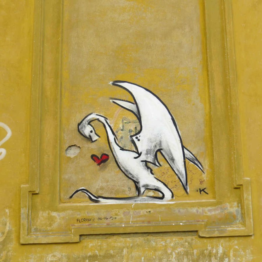 Graffiti Florence - Dragon heart