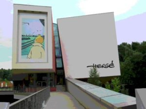 Herge museum posterized