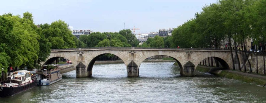 Paris: Pont Marie from Pont Louise-Phillipe in daylight