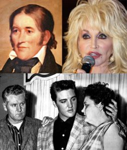 White trash: Davy Crockett, Dolly Parton, Elvis Presley and his parents