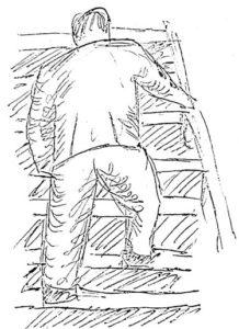 Skagen: Climbing the stairs