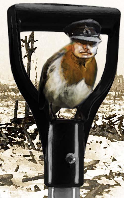 Earl Haig as Christmas Robin