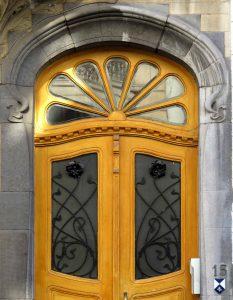 Art Nouveau influenced door