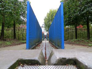 Blue corridor - water feature