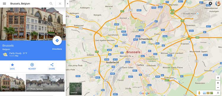 Strange maps header - Google Brussels