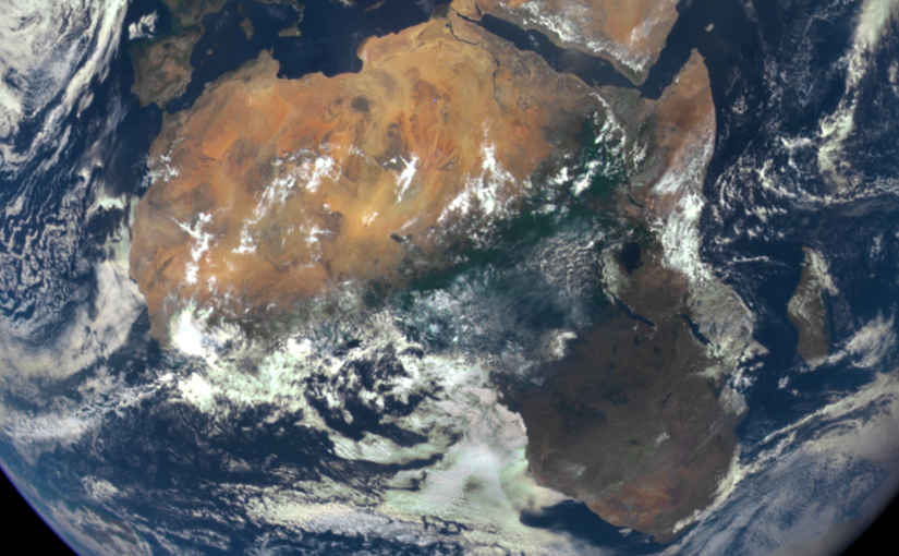 Satelite image of Africa