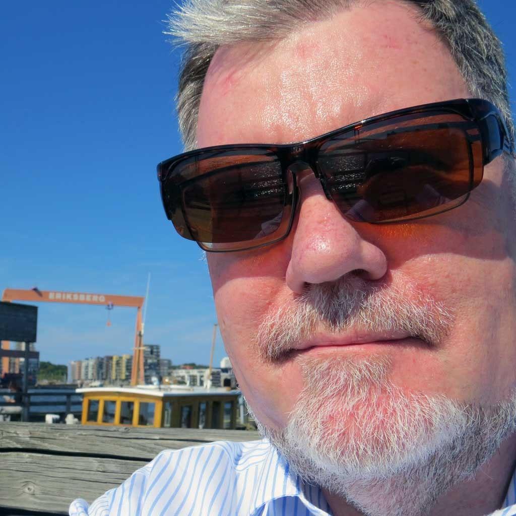On holiday - selfie at Eriksberg
