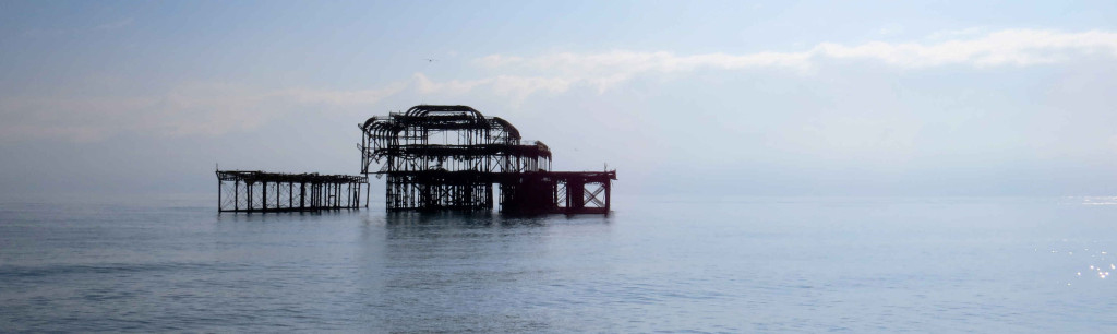 Brighton - West Pier across the water