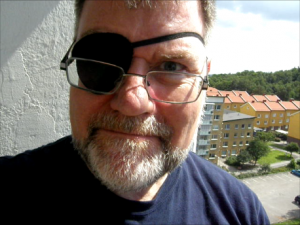 John Nixon, TheSupercargo, wearing an eyepatch and looking like a pirate